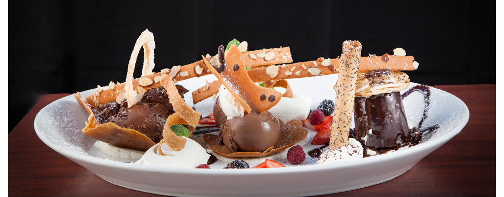 The Chocolate Trio – one of our famous desserts