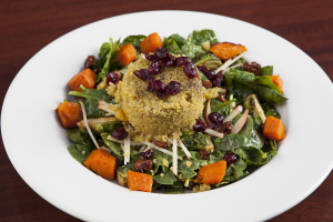 Curried Quinoa & Spinach Salad
