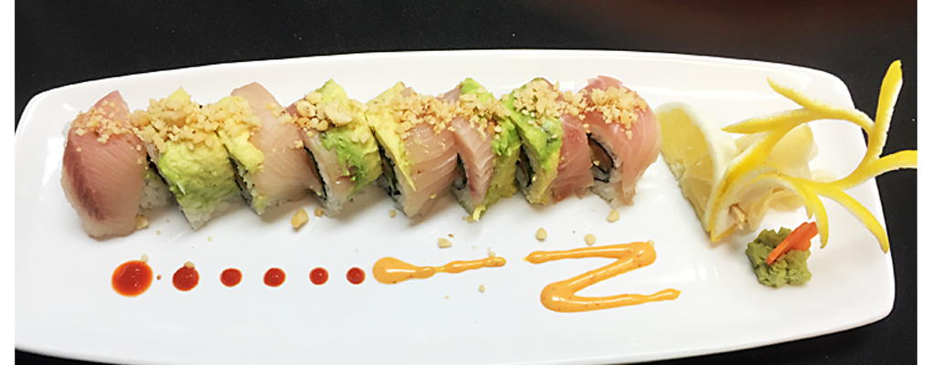 Now serving Sushi at night in the Café 5-9 pm